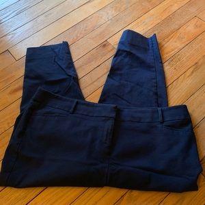 WORN ONCE! LOFT Marissa Ankle Trouser Navy - 20